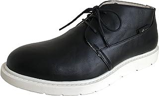 [アマート] メンズ レースアップ ショート ブーツ レイン 雨靴 防水 カジュアル アウトドア タウン 3色 AMT-1201 (L(26.0 cm~26.5 cm), ブラック)