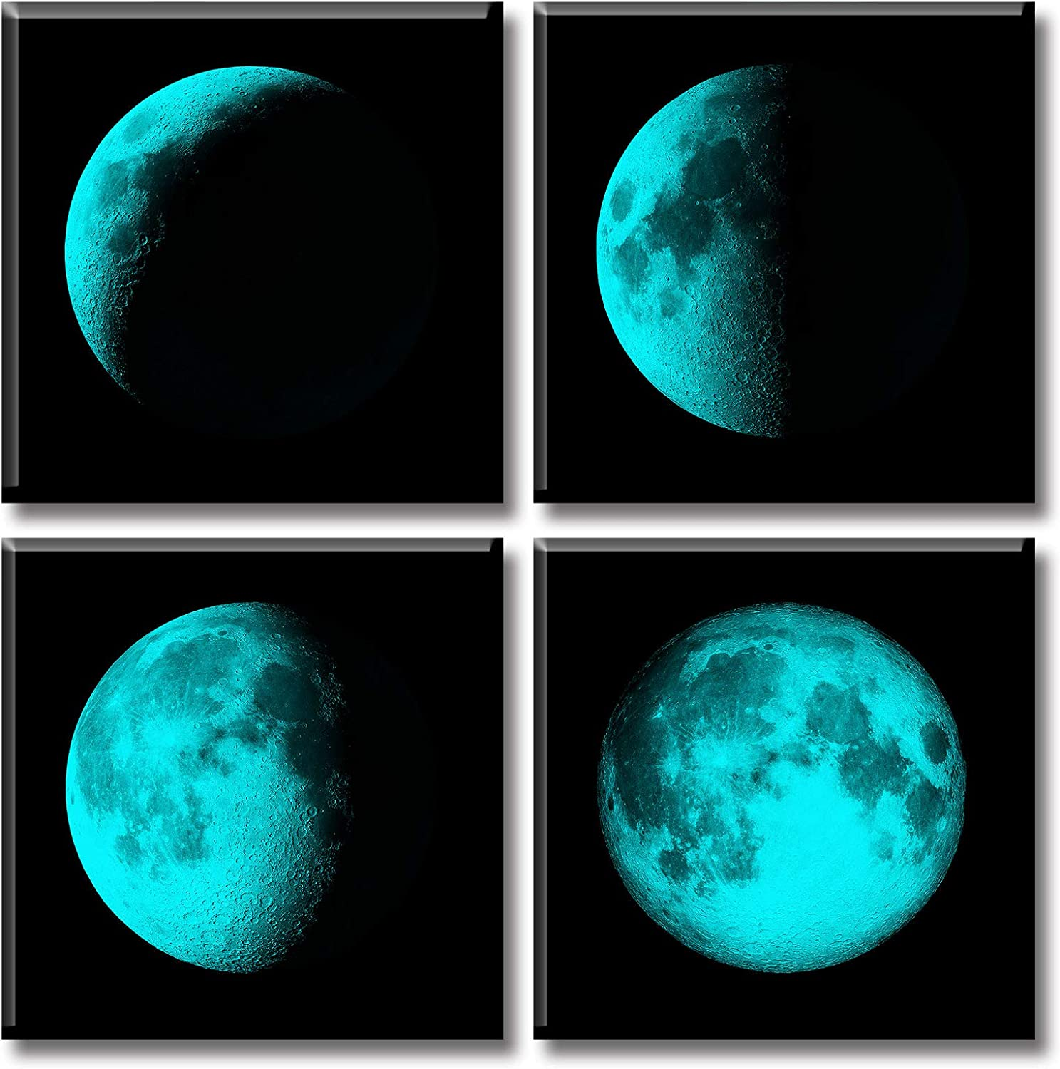 Teal Moon Attention brand Brand Cheap Sale Venue Phase Wall Art Prints Abstract Canvas Astronomy Modern