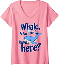 Womens Whale Pun Funny Watching What Do We Have Orca Gift V-Neck T-Shirt