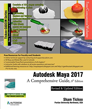 Amazon com: Autodesk Maya 2017: A Comprehensive Guide, 9th Edition