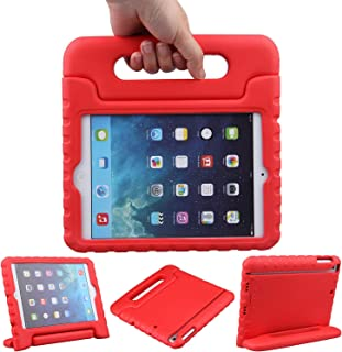LEFON Kids iPad Mini Case ShockProof Convertible Handle Light Weight Super Protective Stand Cover Case For Apple iPad Mini 3rd Gen/Mini 2 / Mini 1 (Red)