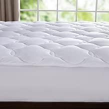puredown Down Alternative Mattress Pad Topper Cloud Quilt Design Microplush Fabric Top White Queen