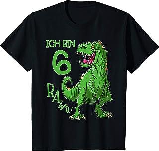 Kinder Ich bin 6 Geburtstag Jungen Dino T-Shirt T-Rex Dinosaurier