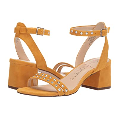 SOLE / SOCIETY Hezzter (Rusted Gold Kid Suede) High Heels