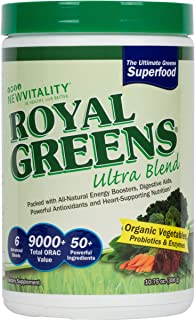 Royal Greens Ultra Superfood | Healthy Veggie Powder with Probiotics, Enzymes, Antioxidants, Wheat Grass & Greens (30 Day Supply)