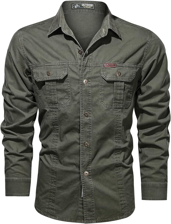 Men's Casual Long Sleeve Shirt Sweatshirt for Men 2021 Cargo Shirt Mens Oversized T Shirt Long Dress Shirt Gift