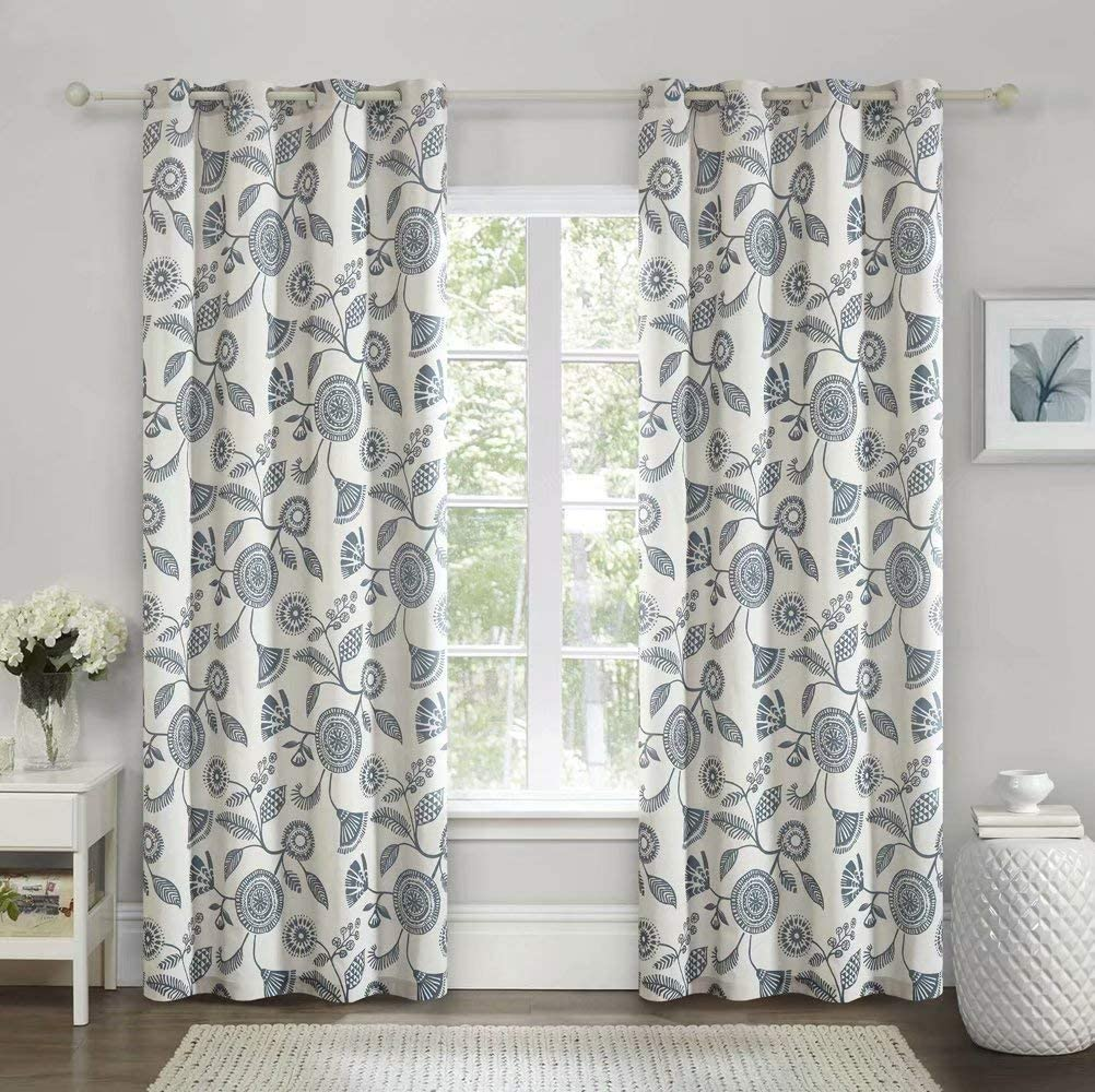 Mitlatem Medallion Printed Floral Very popular Curtains Ro by Inch New Free Shipping 42 96