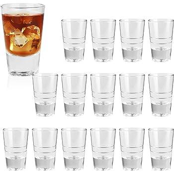 Gmark 1.5-Ounce Heavy Base Shot Glass Set Whiskey Shot Glass 12-Pack GM2011