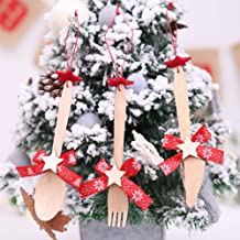 China Bone Dinnerware - Christmas K Wooden Xmas Tree Hanging Decor Tableware Ornament - Crockery K Bamboo K Dinner Tableware Chinese Set Wooden Bone Set Pin Dinner Set Cutlery China Dinner