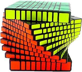 MFJS 2x2x2 à 11x11x11 Cube Magique La Vitesse Cube Puzzle Jouets éducatifs Autocollant Fond Noir (10x10x10)