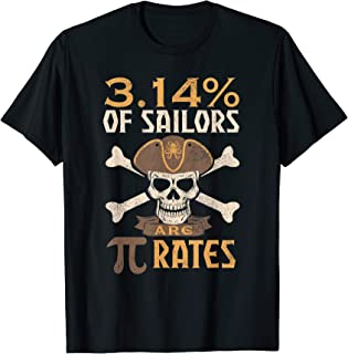 Pi Day Pirate Shirt 3.14% Math Geek Teacher Gift T-Shirt