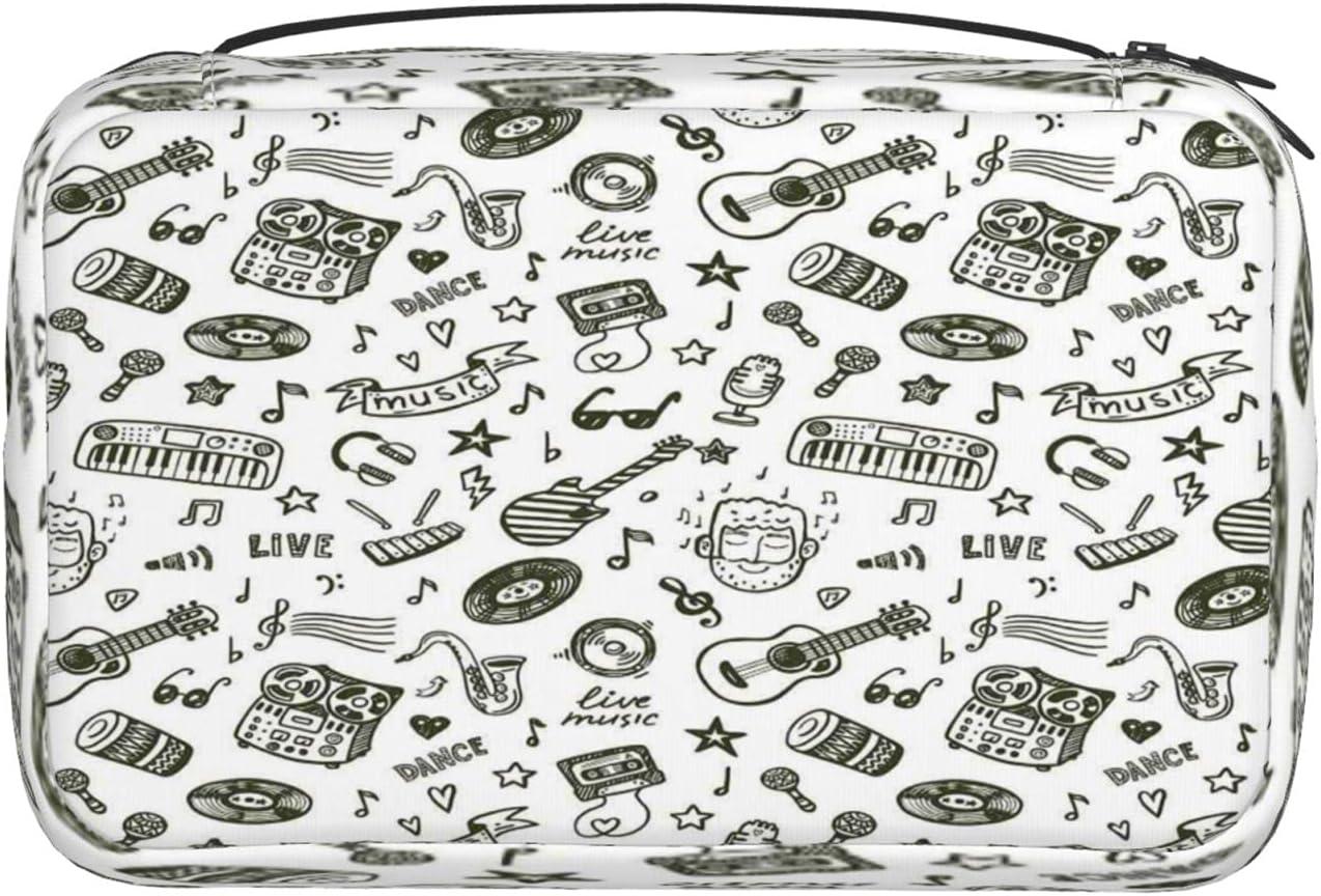 WAIWEI Travel Makeup Bag Hanging Drawn P Music Super-cheap Toiletry Selling rankings Hand