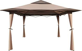 ALEKO GZB004 Popup Polyester Gazebo Canopy Patio Coffee Shelter 10 x 10 x 9 Feet Brown