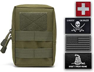 Uphily Tactical Molle Pouch with 4 Patches