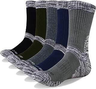 YUEDGE Men's 5 Pairs Cushion Crew Athletic Socks Multi Performance Outdoor Sports Hiking Trekking Socks …