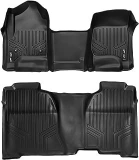 MAXLINER Floor Mats 2 Row Liner Set Black for Crew Cab 2014-2018 Silverado/Sierra 1500 - 2015-2019 2500/3500 HD
