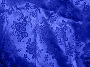 1 X Brocade Jacquard Satin Royal Blue 60 Inches Wide Fabric By the Yard from The Fabric Exchange ®