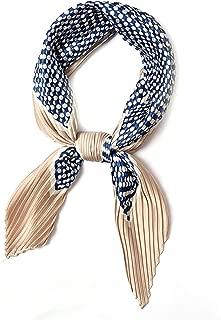 Lollichic Original Scarfs for Women, Pleated Silk Bandana Headband. Beautiful Head Scarf for Women (37 Colors)