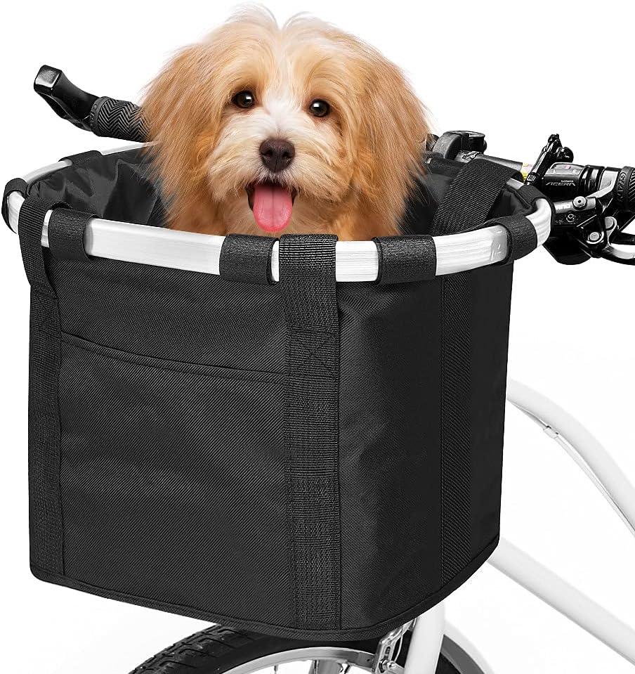 ANZOME Bike Basket Folding Small Pet Carrier