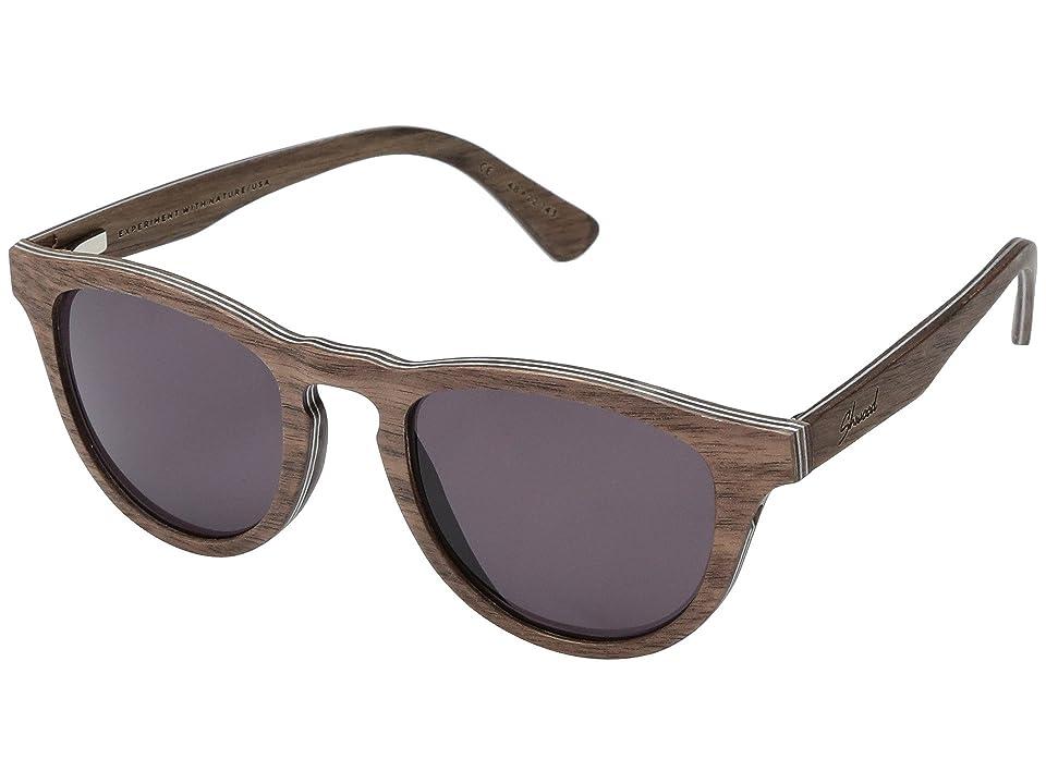 Shwood Francis Wood Sunglasses (Walnut/Grey) Athletic Performance Sport Sunglasses