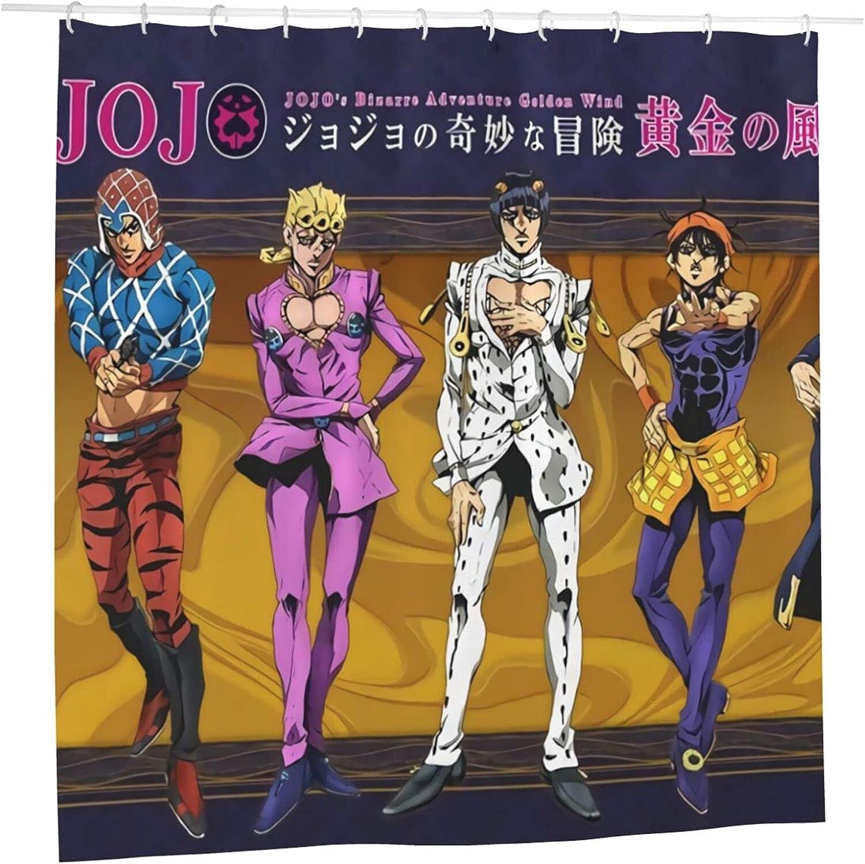 outlet JoJo's Bizarre Adventure Anime Bathroom Liner Shower 72 Curtain Fashionable