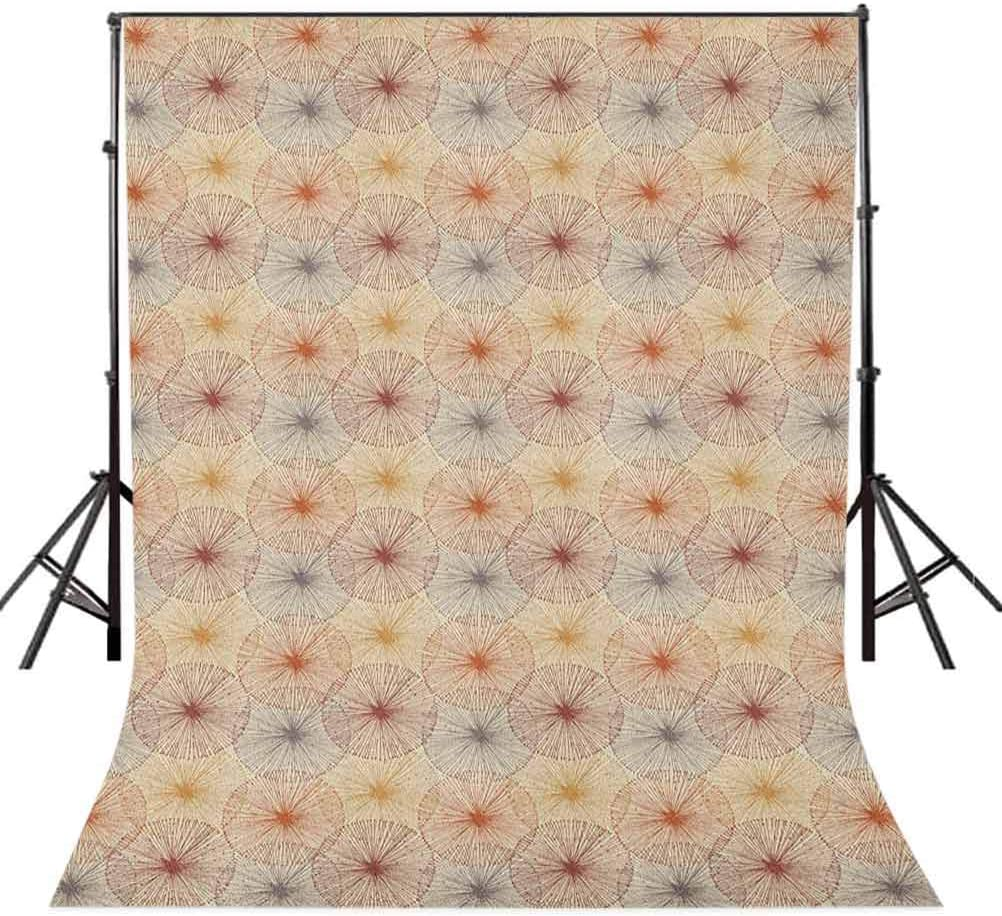 8x12 FT Dahlia Vinyl Photography Backdrop,Close Up Dahlia Blossom with Red and White Petals One Single Large Flower Background for Baby Shower Bridal Wedding Studio Photography Pictures