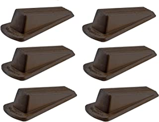 Shepherd Hardware 9133 Heavy Duty Rubber Door Wedge, Brown. Sold as 6 Pack