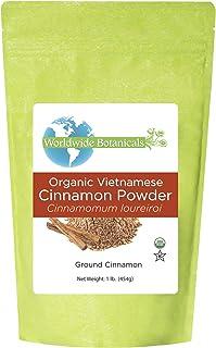 Worldwide Botanicals Organic Cinnamon Powder - Premium Ground Cinnamon Spice - 100% Pure Vietnamese Cinnamon | Sustainably...