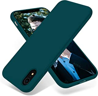 OTOFLY iPhone XR Case,Ultra Slim Fit iPhone Case Liquid Silicone Gel Cover with Full Body Protection Anti-Scratch Shockproof Case Compatible with iPhone XR 6.1 inch, [Upgraded Version] (Teal)