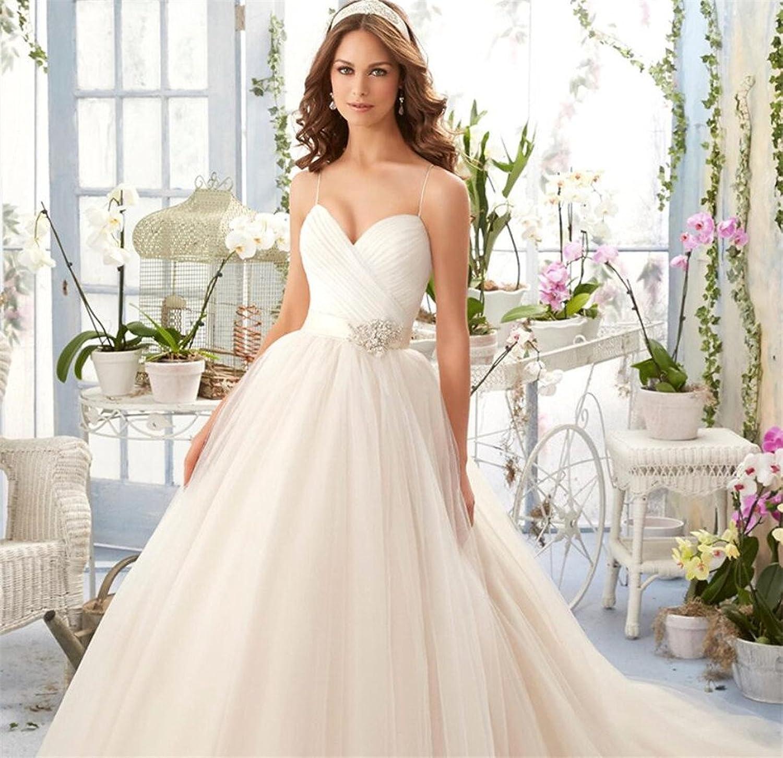 Wedding Dress, Bridal Gown Elegant Long Non Sleeve Summer Elegant Wedding High Heel Dress