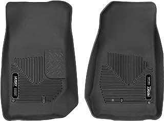 Husky Liners 53571 Black X-act Contour Front Floor Liners Fits 2007-17, 2018 Jeep Wrangler JK-2 or 4 Doors