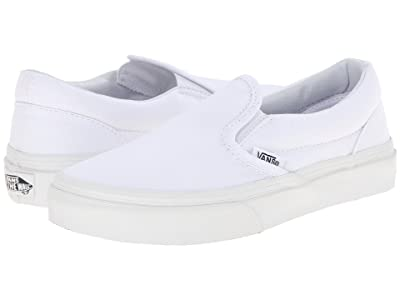 Vans Kids Classic Slip-On (Little Kid/Big Kid) (True White) Kids Shoes
