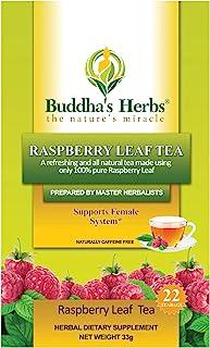 Buddha's Herbs Premium Raspberry Leaf Tea, 22-Count Tea Bags (Pack of 2)