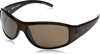 Revo Re 5014 Tander Wraparound Polarized Wrap Sunglasses, Brown Horn Terra, 64 mm