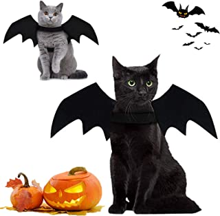 Brocarp Cat Bat Wings, Halloween Costumes Cat Clothes, Pet Apparel for Small Cats, Cute Kitten Costume Dress up Accessorie...