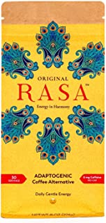 Original Rasa Herbal Coffee Alternative with Ashwagandha, Chaga + Reishi for All-Day Energy + Focus - Caffeine-Free, Organ...