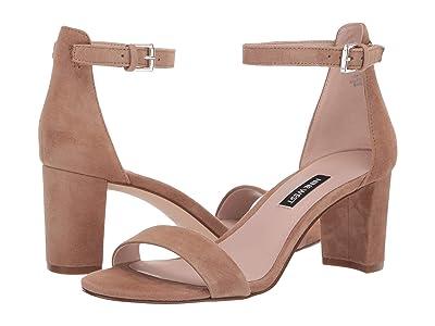 Nine West Pruce Block Heeled Sandal (Latte) Women