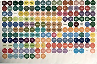Essential Oil Bottle Cap Stickers for doTERRA Oils (2 Sheets)