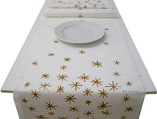 Camino de mesa estrellas doradas, Manteles modernos, BeccaTextile.