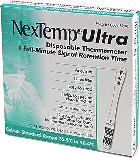 医療機器認証 アメリカ製 液晶体温計 フラットミニ 1箱100枚入り 極薄・極小 何時でもどこでも簡単体温測定 EXMEINTU×100