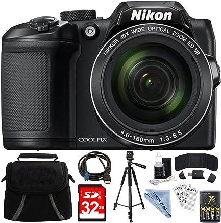Nikon COOLPIX B500 - Cámara digital digital con zoom óptico de 40 megapíxeles, 32 GB, incluye cámara, bolsa, tarjeta de memoria de 32 GB, lector, cartera, pilas AA + cargador, cable HDMI, trípode, gamuza de lino y mucho más