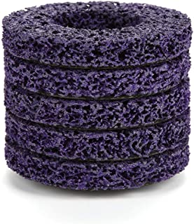 5PCS 100mm 60# Poly Strip Wheel Disc Abrasive Angel Grinders Clean Tool for Rust/Paint / Flaking Materials Removal - Purple&Gold