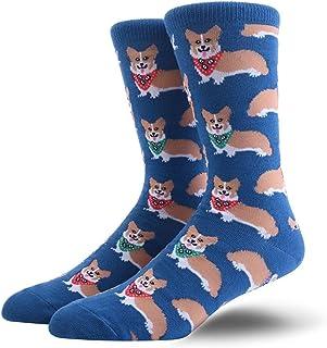 DANGAO, DANGAO Colorido Colorido algodón Peinado Calcetines Divertidos Calcetines Novedad Vestido Casual Boda Calcetines for Hombre (Color : XLKJ 3)