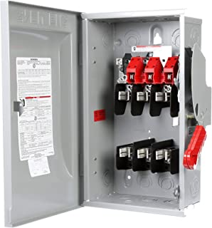 Siemens HF362N 60-Amp 3 Pole 600-volt 4 Wire Fused Heavy Duty Safety Switches