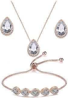 گوشواره گردنبند گوشواره گردنبند UDORA ست جواهرات دستبند ست جشن طلا و جواهر جشن عروسی