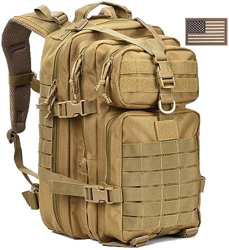 WLDOCA 35L Militaire Sac à Dos Tactique, Sac à Dos de l'armée pour Le Camping randonnée et Trekking,jaune
