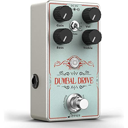 Donner Dumbal Drive Overdrive Guitar Pedal, Transparent Overdrive with 2 Band EQ Pure Analog True Bypass