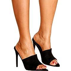 d6da7eaece0 CAPE ROBBIN Women s Dressy Pointy Toe Slip On Mule Stiletto H ..