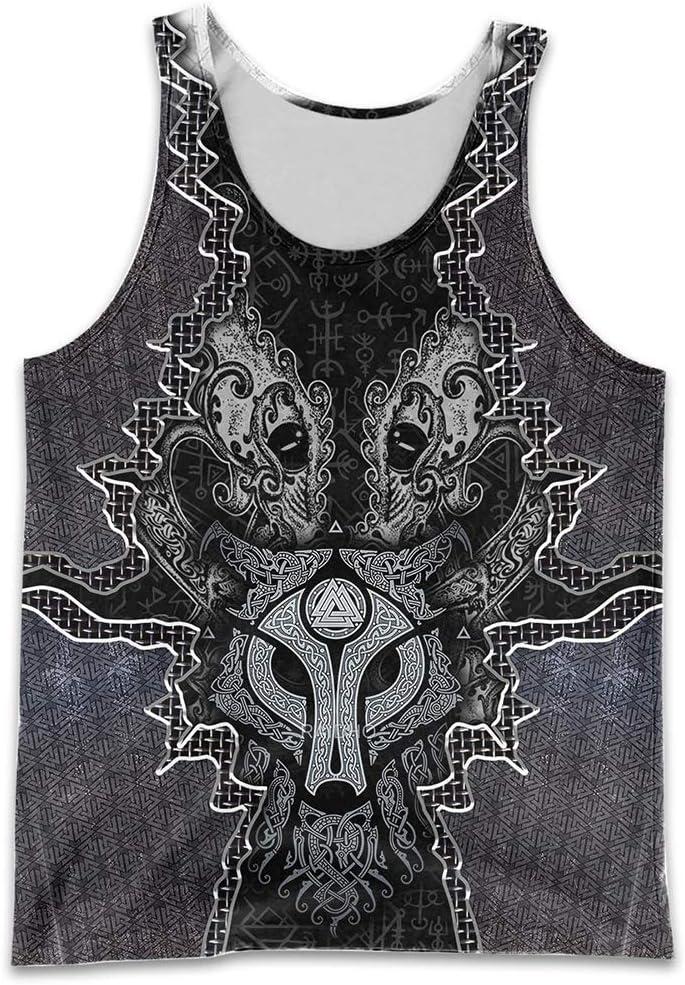 YABEME Men's Viking Clothes Set 3D Wolf Print Fenri Free Shipping Cheap Bargain Gift Duplex Albuquerque Mall Norse