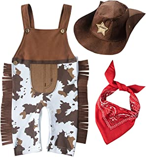 XM Nyan May's Baby Baby Toddler Boys The Cowboy Romper Halloween Dress up Children's Clothing